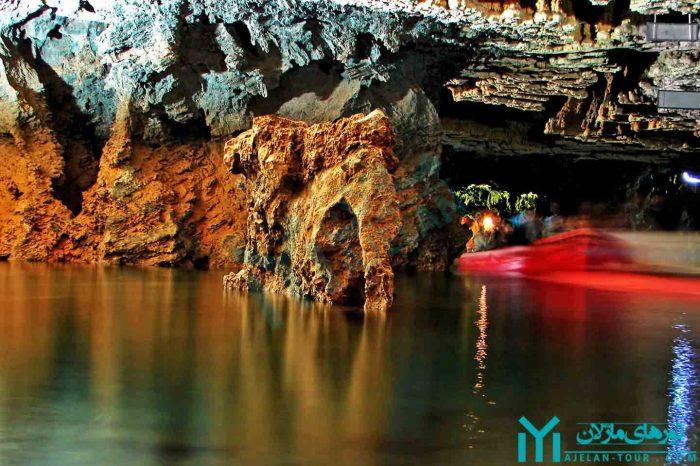 تور غار علیصدر ، بزرگترین غار آبی ایران