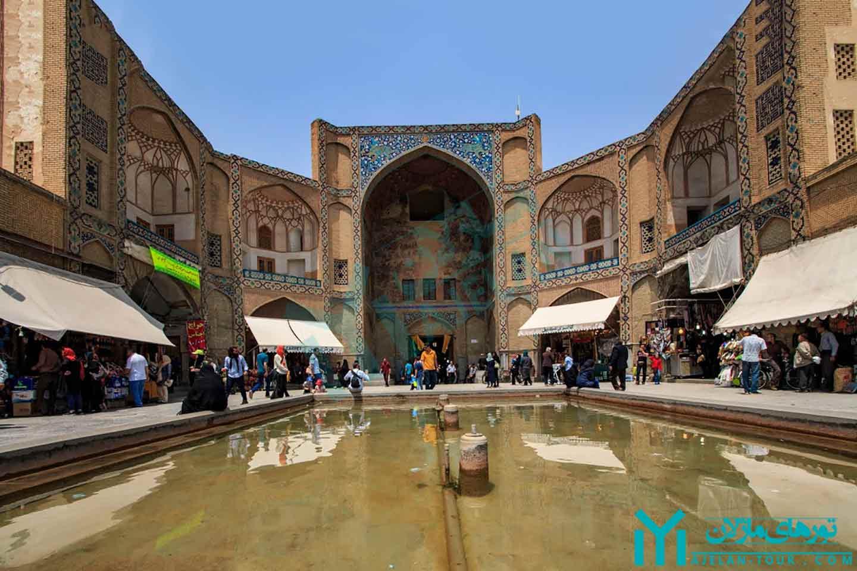 سردر بازار قیصریه اصفهان - تور بازار اصفهان