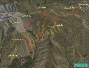 قله گندم چال ، روستای خور البرز