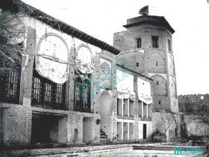 کاخ سلیمانیه با برج پنج طبقه (تصویر مربوط به اواخر قاجار) - گردشگری کرج